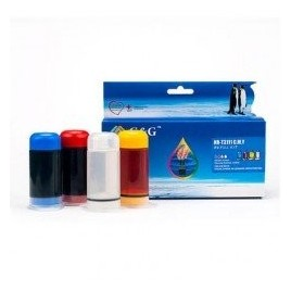 Kit de recharge d'encre universel pour cartouche d'encre couleur - CMY - 3x 30ml + 30ml de solvant